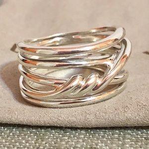 David Yurman Continuance sterling silver ring